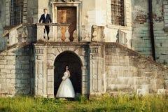 惊人的愉快的柔和的时髦的美好的浪漫白种人夫妇 免版税图库摄影