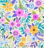 惊人的无缝的花卉样式 库存照片
