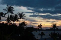 惊人的日出在苏梅岛海岛 免版税库存照片