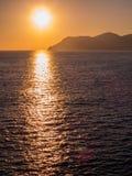 惊人的日落在五乡地 库存图片