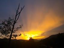 惊人的日落 图库摄影