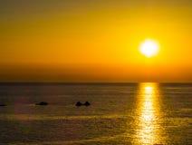 惊人的日落 免版税图库摄影