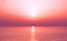 惊人的日落 库存图片