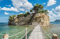惊人的有浮雕的贝壳海岛在扎金索斯州 库存图片