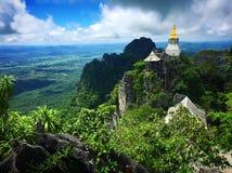 惊人的未看见的泰国& x22; Wat Chalerm Prakiet& x22;在Lampang 免版税库存图片