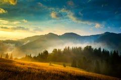惊人的横向山 库存照片