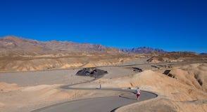 惊人的死亡谷国家公园在加利福尼亚-死亡谷-加利福尼亚- 2017年10月23日 免版税库存照片