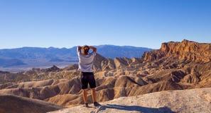 惊人的死亡谷国家公园在加利福尼亚-死亡谷-加利福尼亚- 2017年10月23日 库存照片