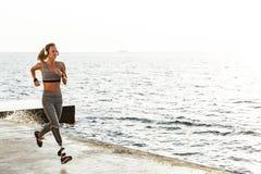 惊人的残疾体育妇女赛跑 库存照片