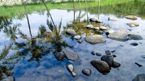 惊人的河在打横,西爪哇省,印度尼西亚 库存照片