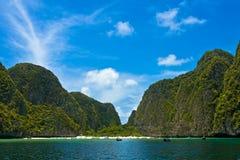 惊人的海湾玛雅人泰国 库存图片
