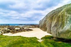 惊人的海滩布里坦尼 图库摄影