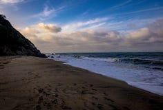 惊人的海滩 免版税图库摄影