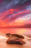 惊人的海滩 库存照片
