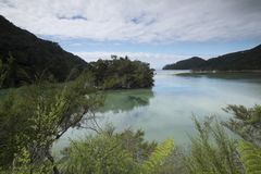 惊人的湖在新西兰d Y 库存图片