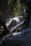 惊人的瀑布在Vittel 库存图片