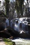 惊人的瀑布在Vittel 库存照片