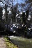 惊人的瀑布在Vittel 免版税库存照片