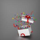 惊人的礼物盒 免版税库存照片