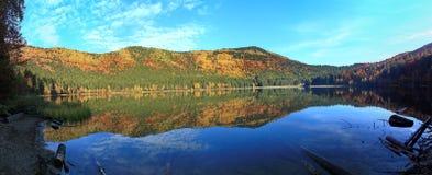 惊人的秋天风景-全景 库存图片