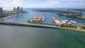 惊人的空中游览迈阿密海滩 影视素材