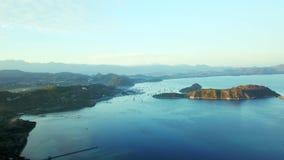 惊人的空中风景在弗洛雷斯岛 影视素材