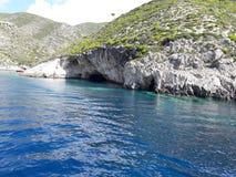 惊人的美丽的海蓝色crysta夏天 免版税库存照片