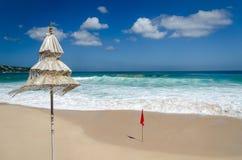 惊人的美丽的理想国海滩巴厘岛 库存照片