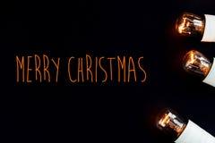 惊人的美好的圣诞节金黄葡萄酒诗歌选在猪圈点燃 库存照片