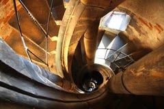 惊人的老楼梯 库存图片