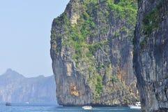 惊人的自然和异乎寻常的旅行目的地在披披岛,泰国 免版税库存照片