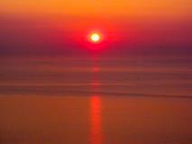惊人的西西里人的日落 库存图片