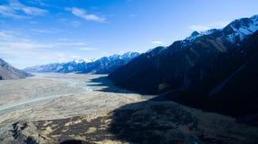惊人的谷视图在新西兰 库存图片