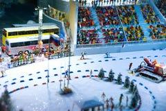 惊人的运动员两项竞赛竞争体育运动冬天 库存图片