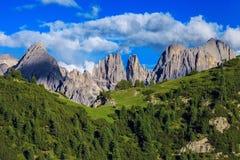 惊人的阿尔卑斯山 免版税库存图片
