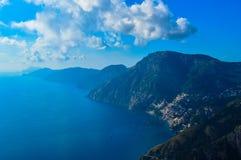 惊人的阿马尔菲海岸,意大利的难以置信的看法 免版税库存图片