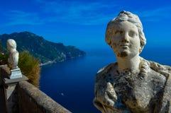 惊人的阿马尔菲海岸,意大利的难以置信的看法 库存图片