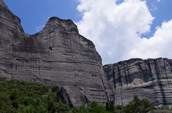 惊人的风景在迈泰奥拉,希腊 免版税库存照片