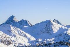 惊人的高山风景 免版税库存图片