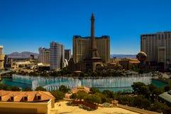 惊人的贝拉焦喷泉,拉斯维加斯,内华达,美国 库存照片
