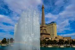 惊人的贝拉焦喷泉,拉斯维加斯,内华达,美国 免版税库存照片