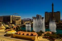 惊人的贝拉焦喷泉,拉斯维加斯,内华达,美国 库存图片