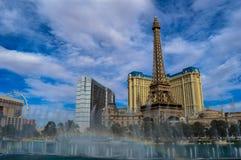 惊人的贝拉焦喷泉,拉斯维加斯,内华达,美国 图库摄影