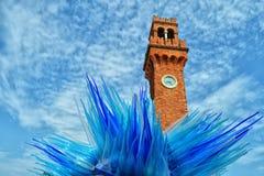 惊人的玻璃雕塑在Murano 库存图片