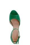 惊人的绿色凉鞋 免版税库存照片