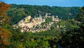 惊人的La Roque Gageac在多尔多涅省 库存照片