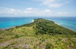 惊人Dravuni海岛风景视图 免版税图库摄影