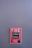 惊动剪报探测器火图象查出的路径烟 图库摄影