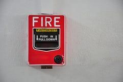惊动剪报探测器火图象查出的路径烟 库存照片