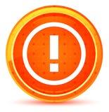惊叹号象自然橙色圆的按钮 皇族释放例证